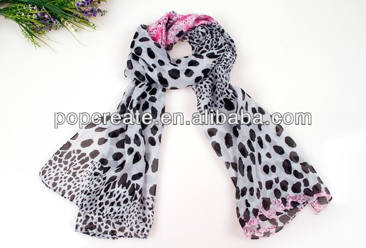 2014 fashion black dot printing scarf