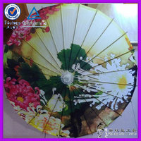 Chinese Classic Flower Pattern Paper Umbrella / Wedding Favor Paper Parasol For Wedding Decoration