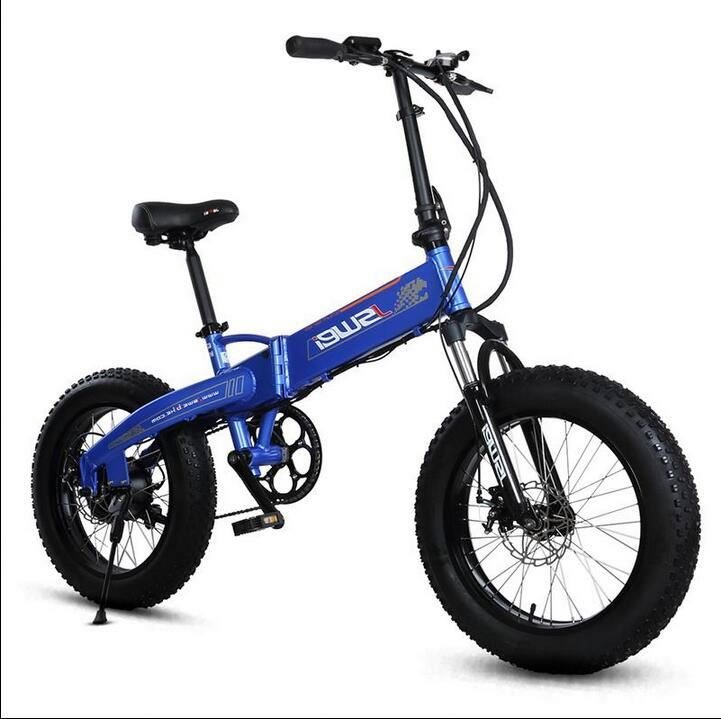 New Style 2016 Fat Tyre Beach Folding Electric Bicycle Bike