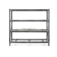 Goods Metal Shelf Warehouse Steel Multi-level Storage Flooring Middle-duty Goods Rack with Heavy Load Capacity