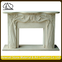 Indian Antique Customized Stone Marble Fireplace For Sale