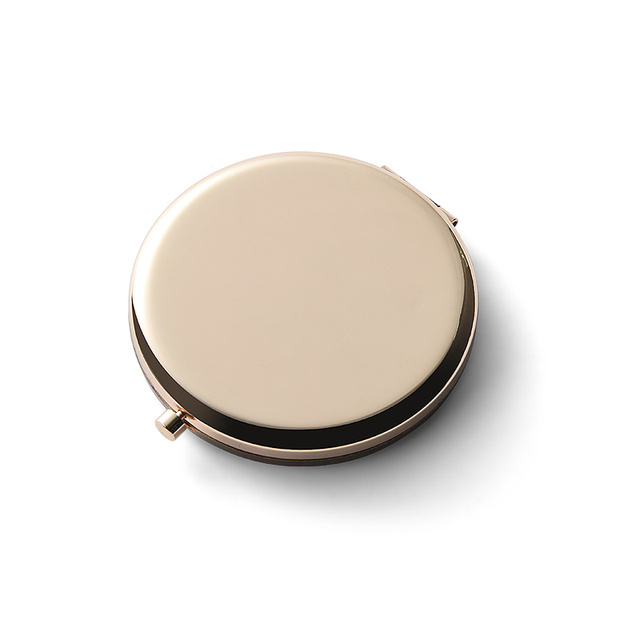 round double side blank metal compact mirror|promotion gift cosmetic mirror