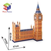 Hardcover London Big Ben World Famous Building 3D Paper Cardboard Jigsaw Puzzle