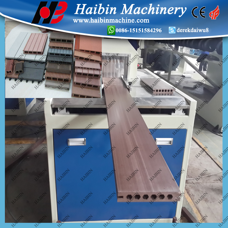 wood plastic composite wpc fence post profile making machine