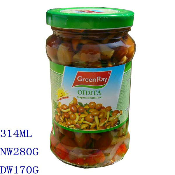 canned nameko marinated in glass jar 314ml