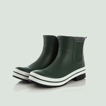 quality green ankle rain boots good sell western ankle rubber boots