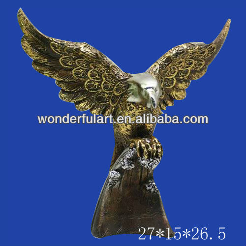 home decoration polyresin eagle figurine