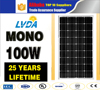 100w solar panel for solar power system 100w best price mono solar panel in Saudi Arabia market