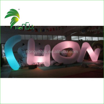 Beautiful Decoration Multi-color Logo Letter Inflatable Lighting Model Balloon