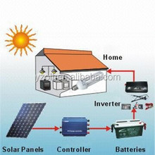 10KW Off-grid home solar power system with rechargable battery