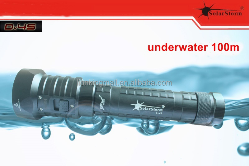 Solarstorm DX4S diving flashlight XM-L <strong>U2</strong> LED torch brightness waterproof 100m white light led torch - warm white