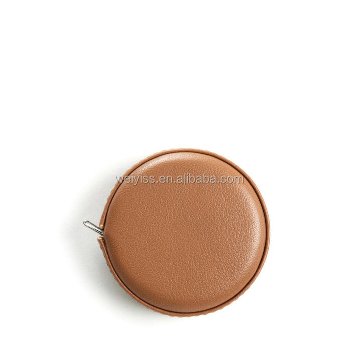high quality sewing measuring tape leather cover