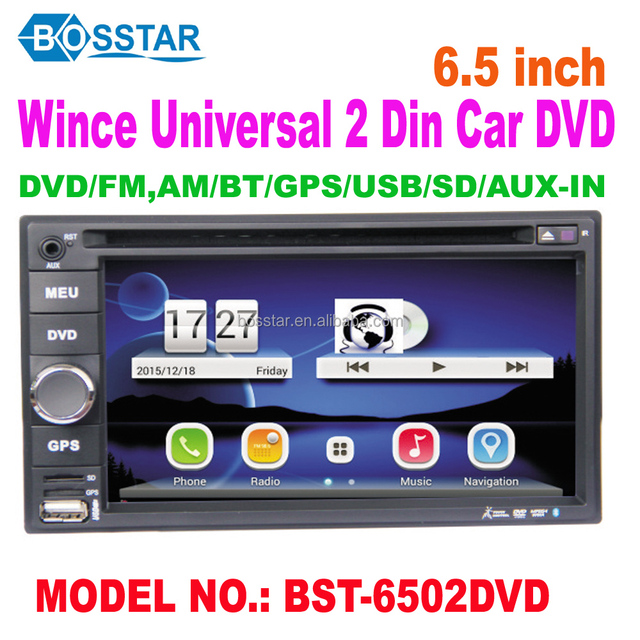 6.2inch Universal double din WINCE car dvd stereo player with GPS tv radio mp3 bluetooth, steering wheel control