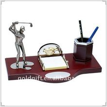 Golf Cooperation Desktop Gift with Pen Container