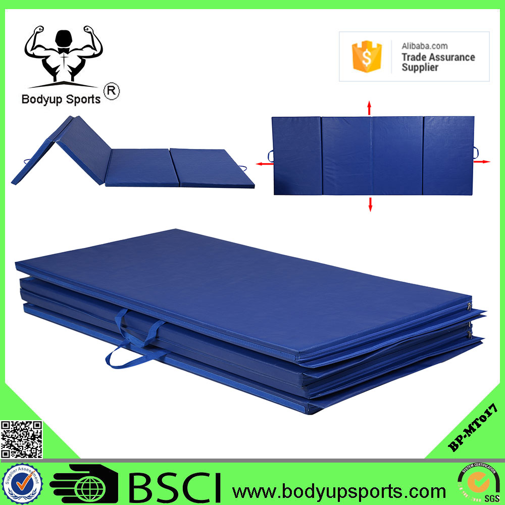 Gymnastics Gym Folding Exercise Aerobics Mats Blue Stretching Yoga Mat