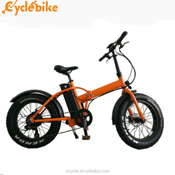 20inch 48v 500W hub motor geared fat tire folding ebike with lithium battery