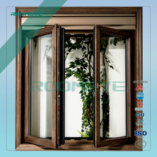 double sash casement aluminum wood hinge window