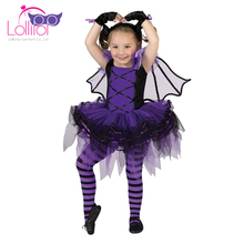 Directly factory sell cute girl ballerina bat fancy dress halloween costumes ideas for kids
