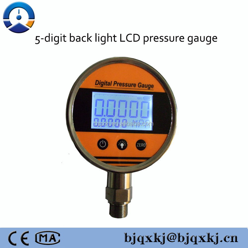 Hydraulic Pressure Meter : Digital hydraulic pressure gauge air mini