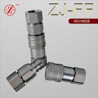 ISO 16028 hydraulic hose quick release connect component coupling