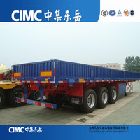 Open Side Wall Cargo Semi Trailer with Jost Landing Leg