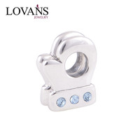 925 Solid Silver Boxing Glove Zircon