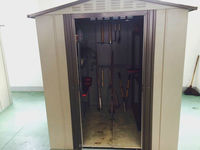 Metal 6*11 inch garden shed for outside stock tool