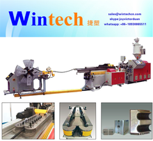 Flexible conduit production line of single wall corrugated pipe making machine