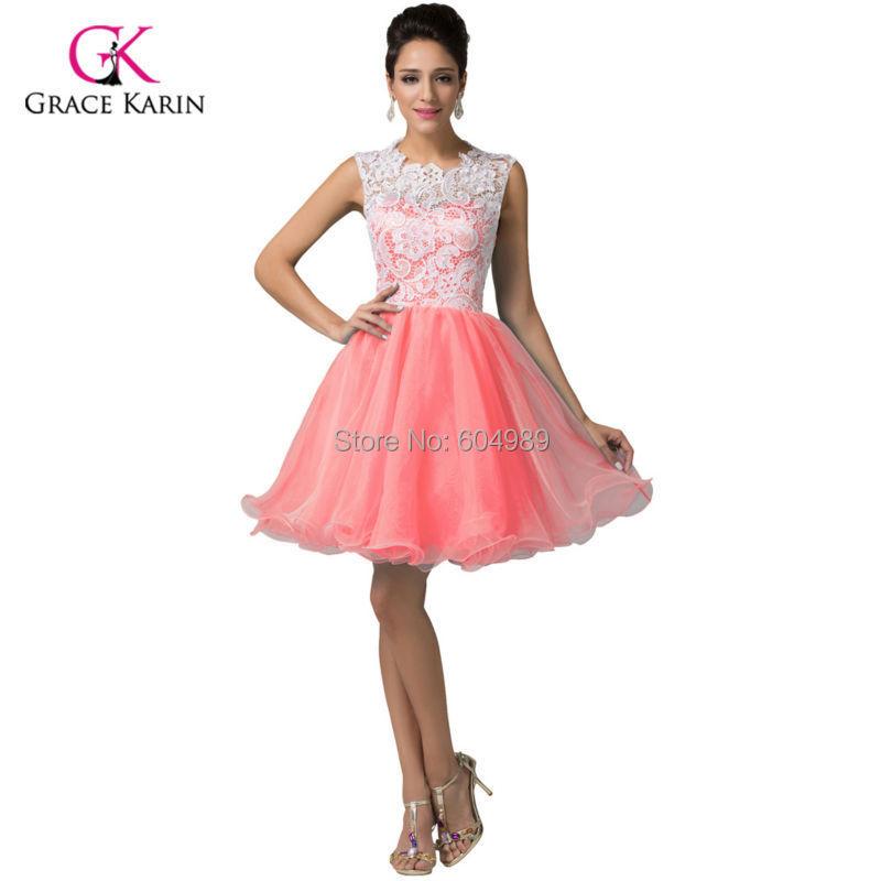 Buy 2015 Grace Karin Bluepurpleyellowblackmint Green Lace Short