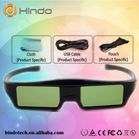 BT/RF Black 3D Glasses OEM LOGO active shutter 3D Glasses for projector and TV