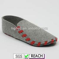 Grey Wool Felt Shoes With Casual
