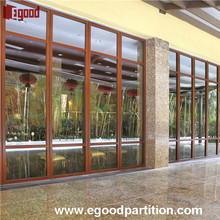 Cheap price office partition wall glass/wooden door for hotel