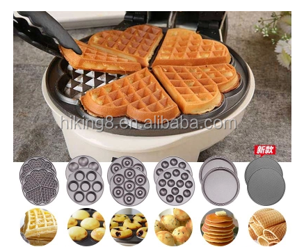 Automatic 3 in 1 detachable cake pop cupcake donut waffle maker