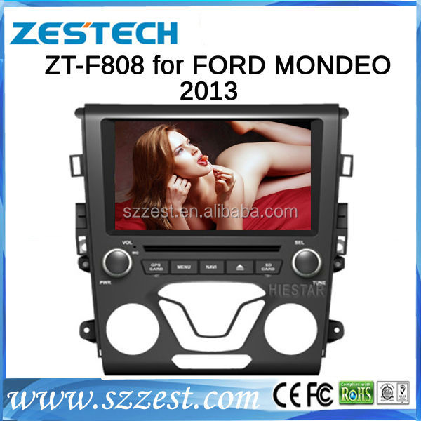 ZESTECH Wholesale HD touch screen double din dvd head unit for ford mondeo 2013 gps navigation