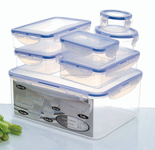 clip lock plastic food container sets