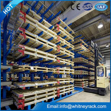 China factory Cantilever Rack for Bulky Store,warehouse Carpet Rolls Racking,steel pipe timber storage rack
