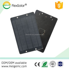 Flextech 5V 5W 1000mAh Foldable Solar Panel Charger Pack USB Power Bank for Mobile