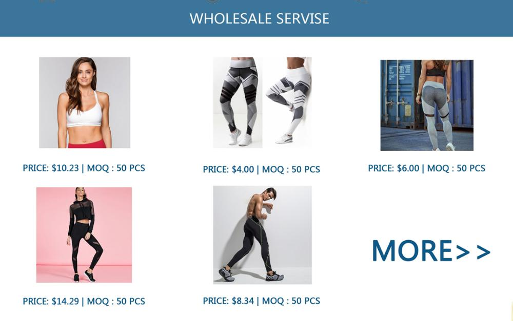 High Quality OEM Design Your Own Fitness Clothing Legging Sets