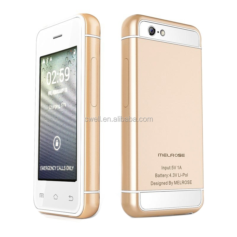 Melrose S9 2.4 inch 16GB RAM 3G Android Tiny Mini Mobile Phone with Silver and Gold Colors