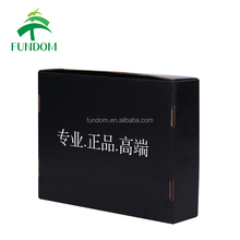 custom black color fold up cheap flute paper flatbread pizza box flat pack cake box wtih logo