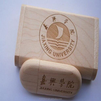 2016 best promotional gift customize logo natural wooden USB flash drive cheap price