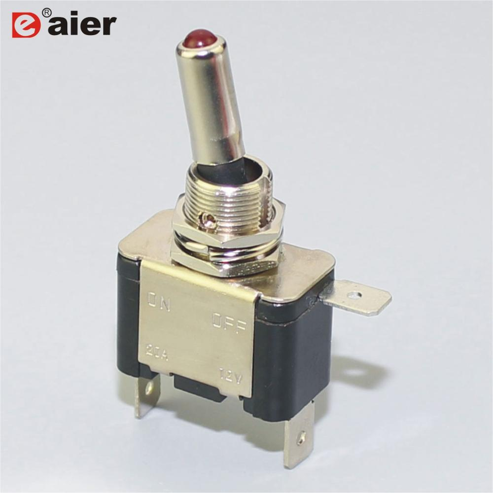 Wholesale Toggle Switches 12v Online Buy Best Miniature Switch Spst Onoff Asw 07d 12vdc 3 Pin On Off With Lamp 20a Strong
