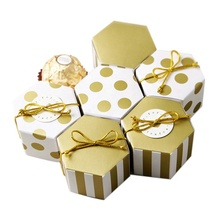 Mini Ribbon Wedding Decoration Favor Small Chocolate Candy Handmade Paper Box Roses Packaging Gifts For Guests