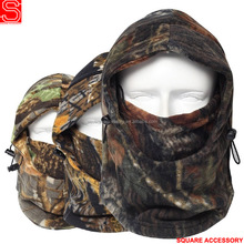 Woodland Military Windproof Ski Masks Polar Fleece Animal Balaclava Hats