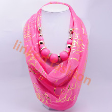 new design sexy lady rose pink beads large for scarf cachecol,bufanda infinito,bufanda