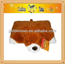 2014 new designs animal plush cushion