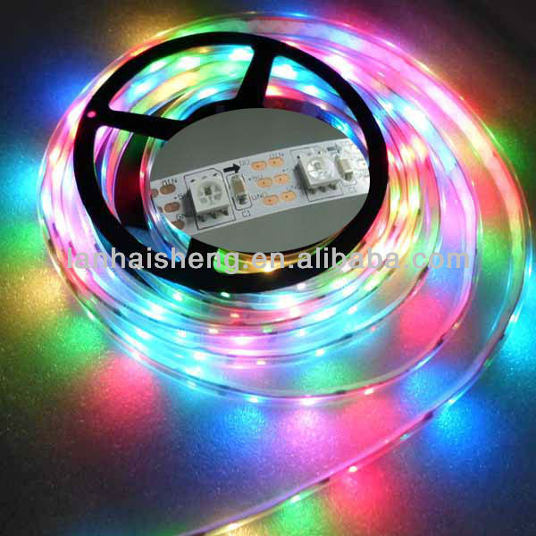 5m DC5V WS2811 led pixel srip,IP68,60pcs WS2812B/M with 60pixels
