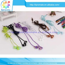 Latest fashionable flat cable earphone