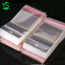 YiWu Resealable transparent custom polybag packaging clear plastic poly opp bags for cookies