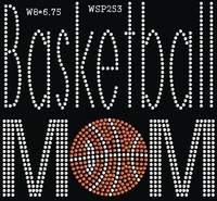 Shinning Crystal Basketball Mom Sports Design Buy Heat Transfers For Garment